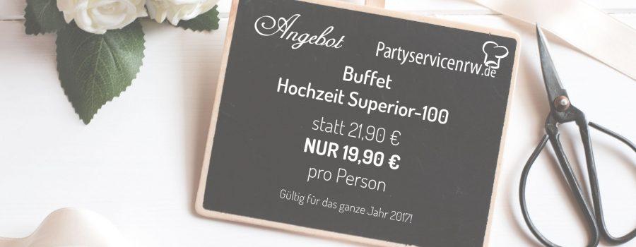Partyservice Angebot Buffet Hochzeit Superior-100 für 2017