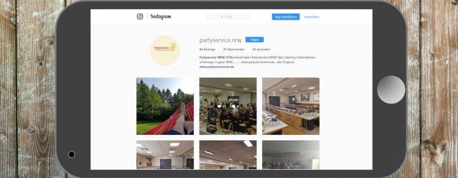 Partyservice NRW nun bei Instagram