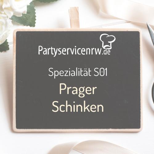 Spezialität S01 Prager Schinken - Knuspriger Schinken mit Beilagen
